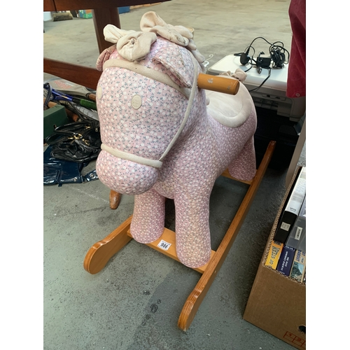 986 - Childs Rocking Horse...