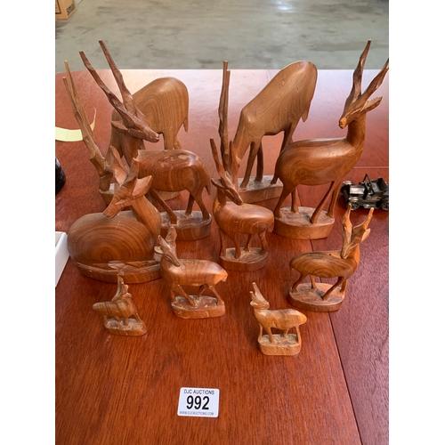 992 - Quantity of Treen Deer...