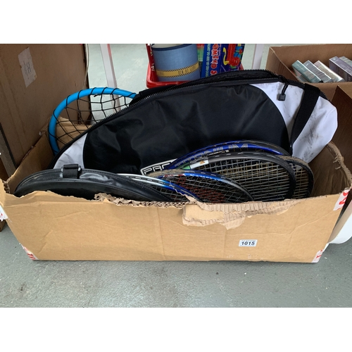 1015 - Box of Tennis Rackets...