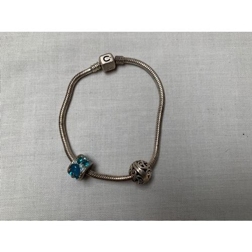 14 - Bracelet & 2 x 925 Silver Charms...
