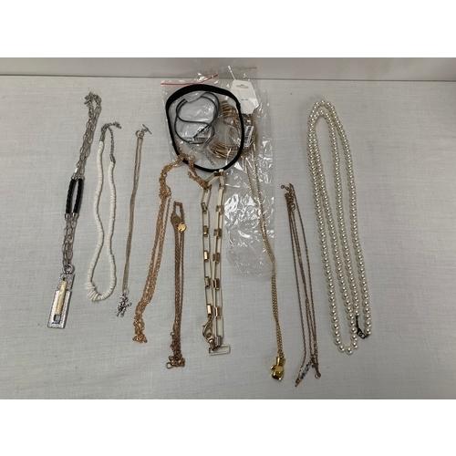 17 - Quantity of Costume Jewellery Necklaces...