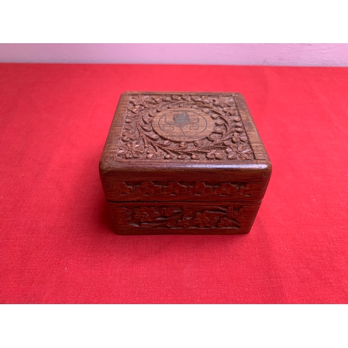 9 - Small Carved Wooden Box...