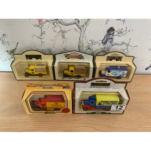 12 - 5 x Boxed Die Cast Advertising Trucks...