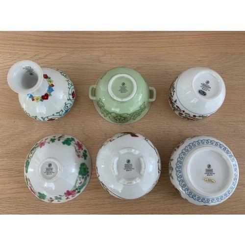 14 - 6 x Franklin Mint Limited Edition Pots