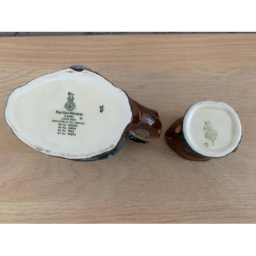 17 - Small Royal Doulton Rip Van Winkle & Old Charley Character Jugs
