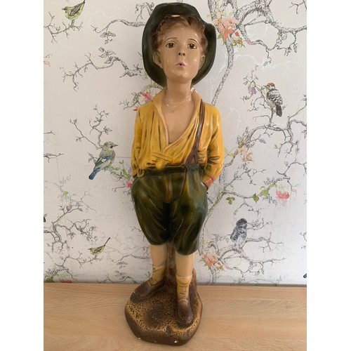 29 - Large Plaster Boy Figure - A/F Head Has Been Repaired - 60cms Height (collection only for this item)