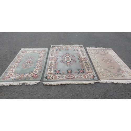 1 - Three Chinese Rugs, one 6ft x 4ft, two 3ft x 5ft....