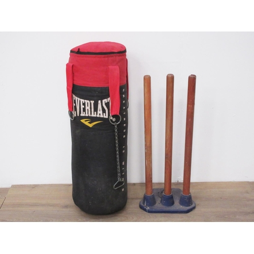 12 - An Everlast Punch Bag and a Set of Wickets....