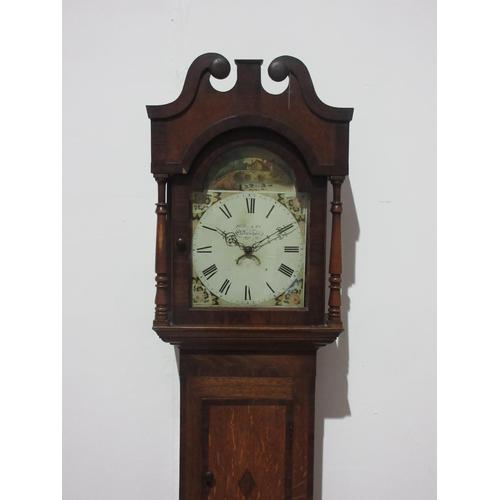 18 - An oak 30-hour Longcase Clock by Huber & Co, Cheltenham....