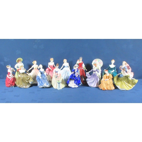 27 - Sixteen Royal Doulton Figurines....