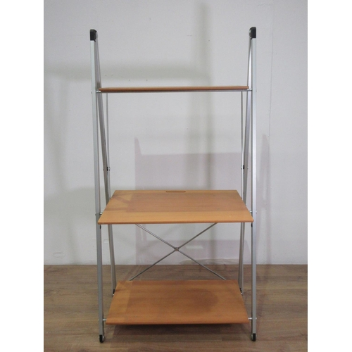 29 - A modern three tier folding Shelf Unit....