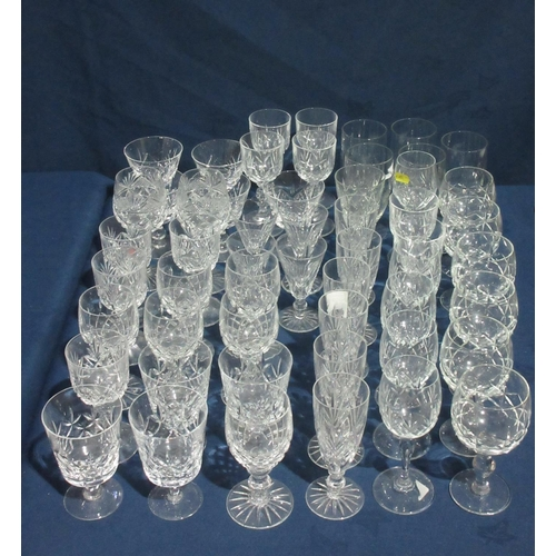 34 - A quantity of various Wine Glasses....