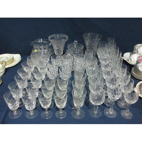 37 - A quantity of cut glass Wine Glasses, etc....