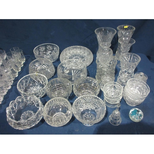 42 - A quantity of cut Glass Bowls, Vases, etc....