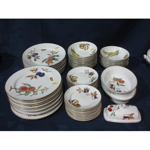 51 - A quantity of Royal Worcester Evesham patterned Dinnerware....