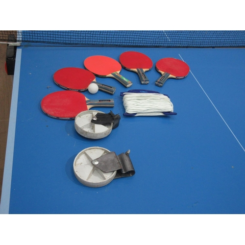 9 - An outdoor Table Tennis Table and accessories....