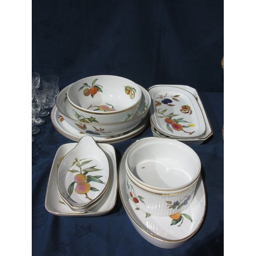 55 - A quantity of Royal Worcester Evesham Dishes, Bowls, etc....