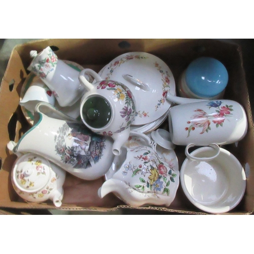 43 - Three boxes of various Tea and Dinnerware....