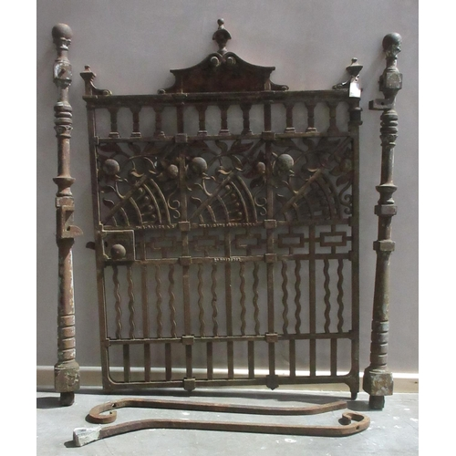 11 - A Cast Iron Gate by W.A. Baker & Co, Western Ironworks, Newport, Registration Number 136747, with tw...