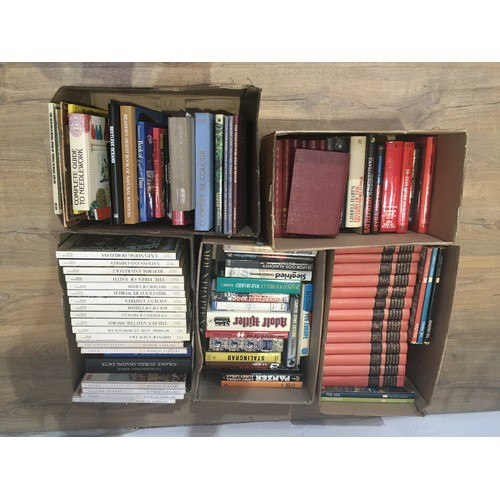 4 - Five boxes of History, Military, Cookery and rural related Books