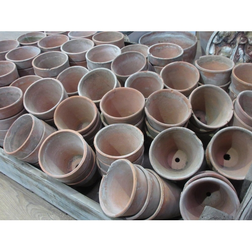 113 - A large quantity of assorted terracotta Plant Pots and a Mop Bucket...