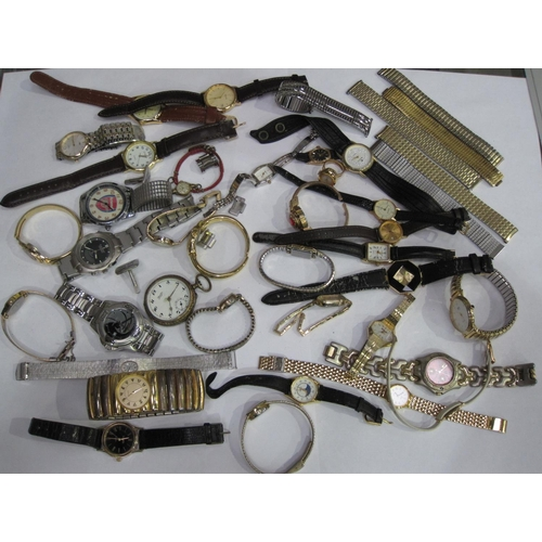 156 - A box of modern Wristwatches, mostly quartz....
