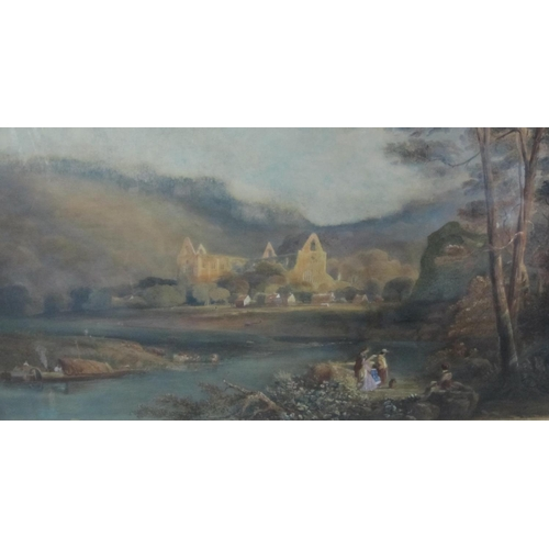 314 - ENGLISH SCHOOL c.1850. On the Wye at Tintern, bears signature 'Copley Fielding', watercolour with to...