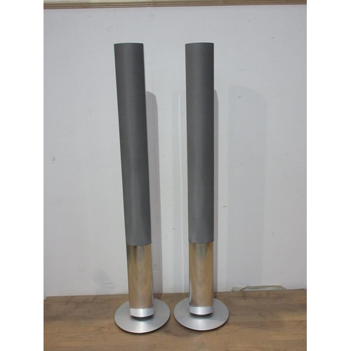 593 - A pair of Bang and Olufsen floor standing Speakers 6ft 1/2in H...