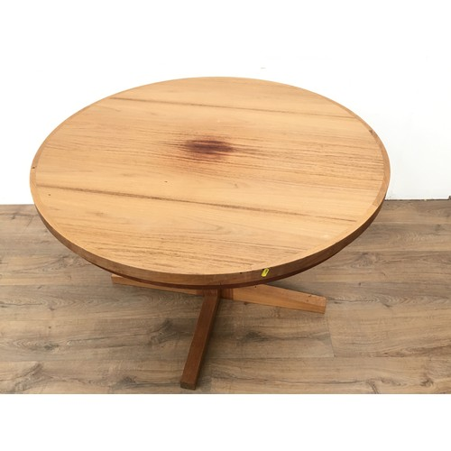 575 - A Drylund rosewood circular dupe Dining Table, 3ft 8in diam...
