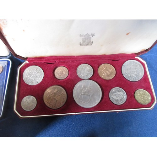 71 - A collection of proof and uncirculated Coins to include a 1953 set, New Zealand cased Sets, 1969 & 1...