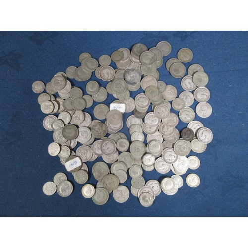 79 - A collection of George V & George VI silver, mostly shillings...