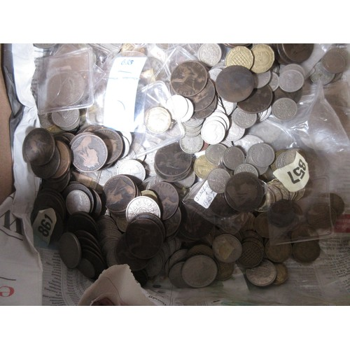 81 - A collection of mostly British pre-decimal Coins...