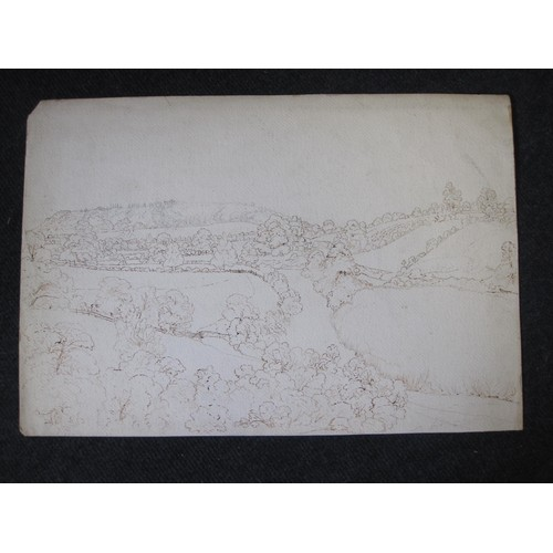 322 - J. NOTT. A selection of unframed drawings c.1850 depicting Shropshire and Welsh landscapes; subjects...