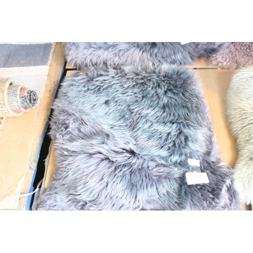 10 - 1X SHEEP SKIN RUG STEEL 100% SHEEP SKIN MADE IN CHINA SINGLE RRP £30  (21.09.18) (2980440)...