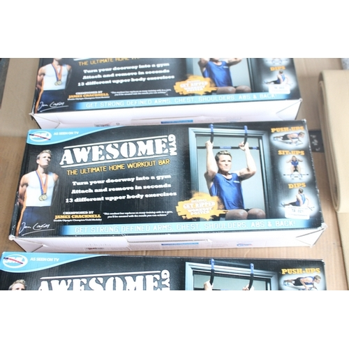 21 - 1X BOXED AWESOME GYM THE ULTIMATE HOME WORKOUT BAR...