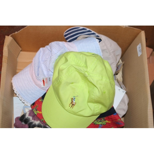 50 - ASSORTED CHILDREN'S HATS IN A BOX (17.09.18) (45.052)...