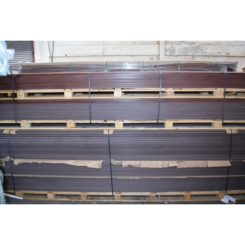 3 - 1 x PALLET CONTAINING  132 PIECES OF 235 X 25 X 3660MM BRAND NEW WILD FIELD BROWN WPC DECKING RRP £9...