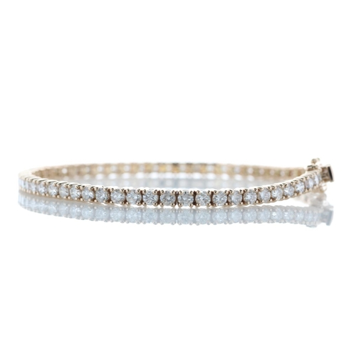 12493003 - Valued by GIE £34,735.00 - 18ct Rose Gold Tennis Diamond Bracelet 4.33 Carats, Colour-D, Clarity-VS,...