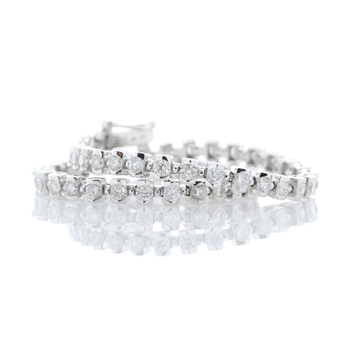 13493035 - Valued by GIE £18,975.00 - 18ct White Gold Tennis Diamond Bracelet 2.49 Carats, Colour-D, Clarity-VS...