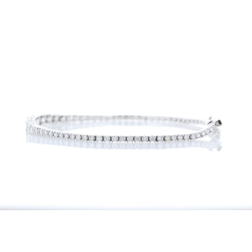 13493038 - Valued by GIE £19,975.00 - 18ct White Gold Tennis Diamond Bracelet 2.77 Carats, Colour-D, Clarity-VS...