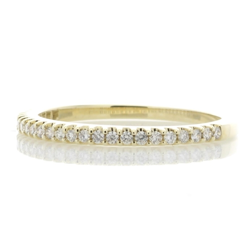 17180005 - Valued by GIE £2,360.00 - 9ct Yellow Gold Diamond Half Eternity Ring 0.25 Carats, Colour-D, Clarity-...