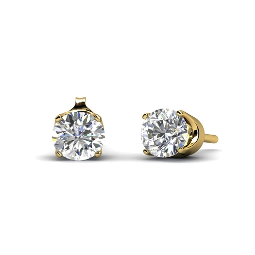 17203002 - Valued by GIE £675.00 - 9ct Single Stone Four Claw Set Diamond Earring 0.15 Carats, Colour-D, Clarit...