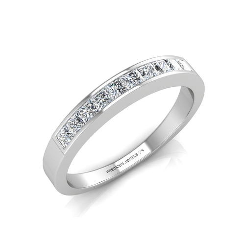 18154010 - Valued by GIE £4,259.00 - 9ct White Gold Channel Set Half Eternity Diamond Ring 0.50 Carats, Colour-...