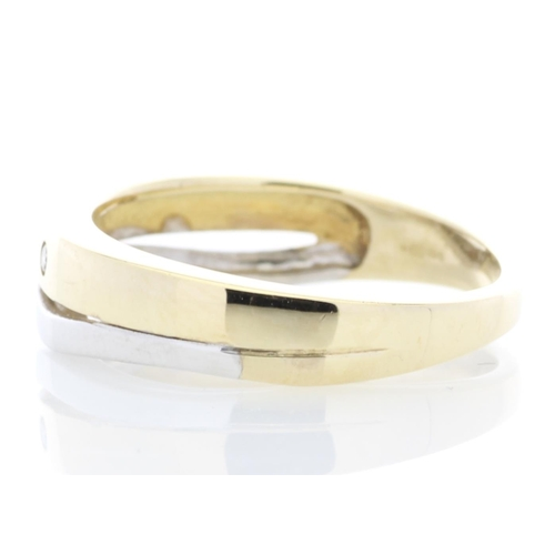 31 - Valued by GIE £1,360.00 - 9ct Yellow Gold Single Stone Rub Over Set Diamond Ring 0.01 Carats, Colour...