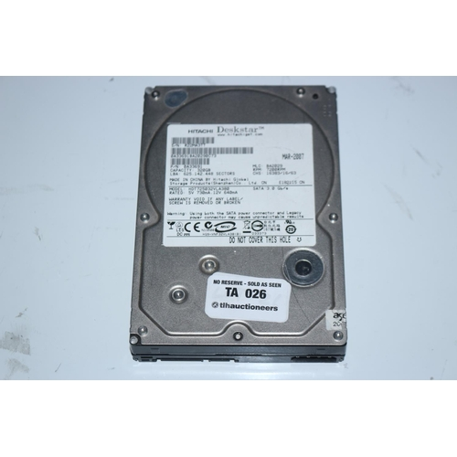 26 - HITACHI 320GB HARD DRIVE...