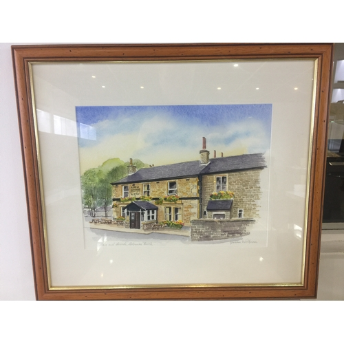 7 - Gordon wilkinson hare and hounds Holcombe brook watercolour...