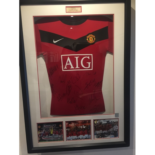 14 - Manchester United carping cup final signed shirt...