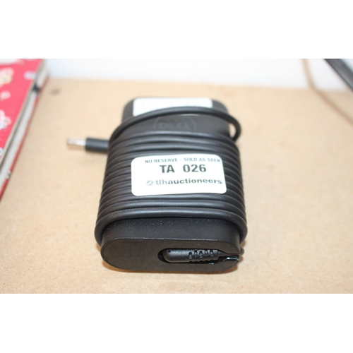 5 - 1 X BLACK DELL CHARGER (EX26)...