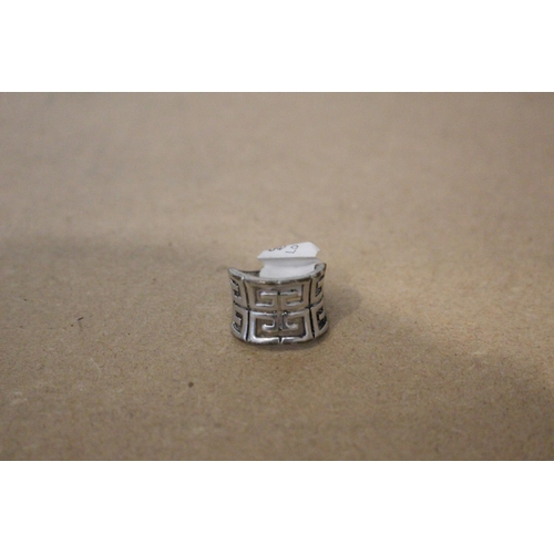 49 - 1 X SILVER LARGE PATTERNED RING (EX88)...