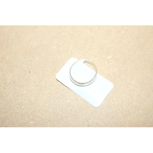 54 - 1 X SILVER PLAIN BAND RING (EX94)...